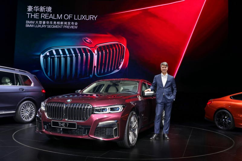 Weltpremiere der neuen BMW 7er Reihe am 16.01.2019 in Shanghai/China. Harald Krüger, Vorsitzender des Vorstands der BMW AG.