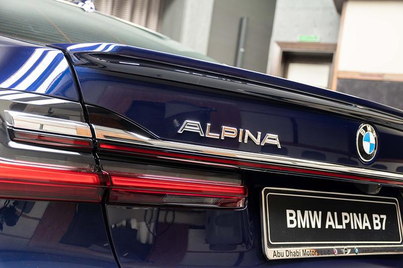 BMW Alpina B7 BiTurbo, Alpina Schriftzug auf der Heckklappe