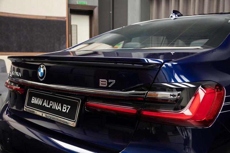 BMW Alpina B7 BiTurbo, Typ-Bezeichnung auf der Heckklappe