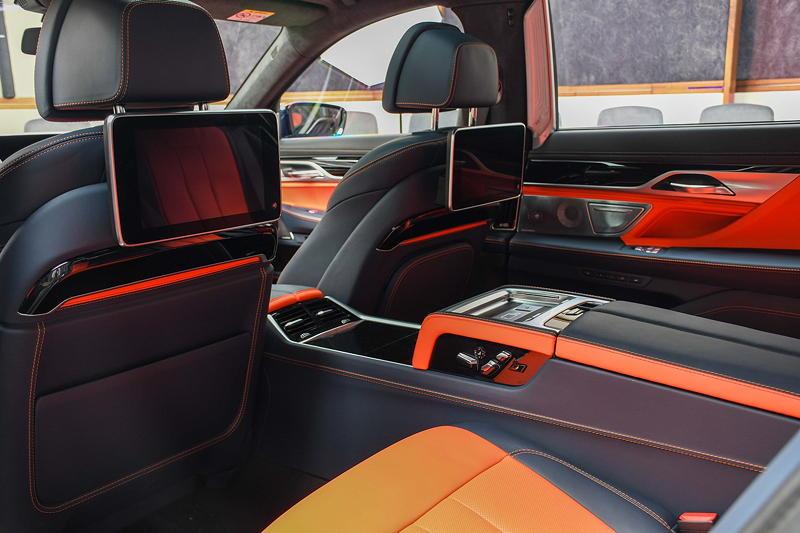 BMW Alpina B7 BiTurbo, Fond mit Executive Fondkonsole und Fond Entertainment Experience