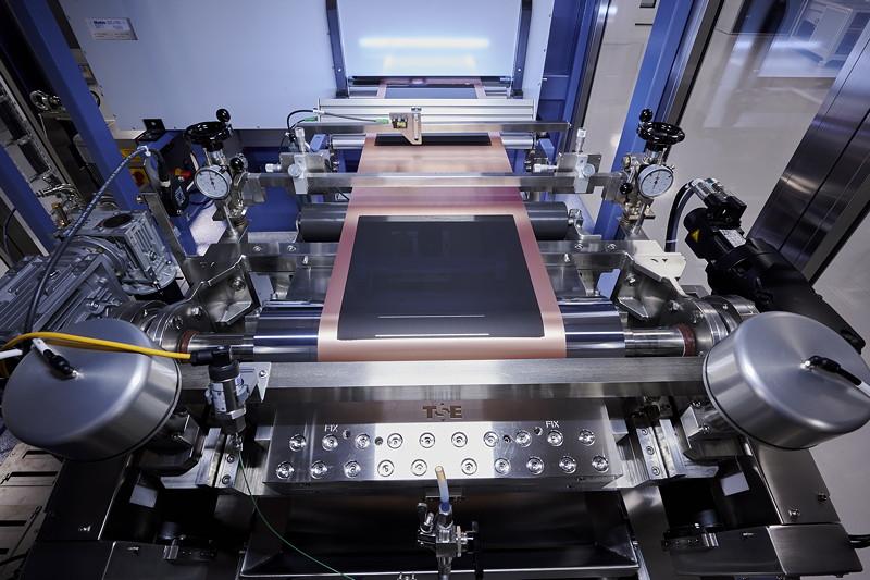 Kompetenzzentrum Batteriezelle: Beschichten und Trocknen der Elektrodenfolie
