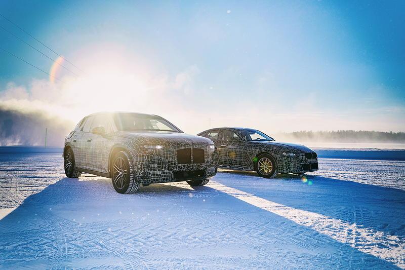 Der BMW iNEXT und der BMW i4 im Winterfahrtest