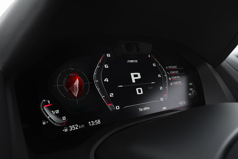 BMW M8 Competition Coupé, Tacho-Instrumente
