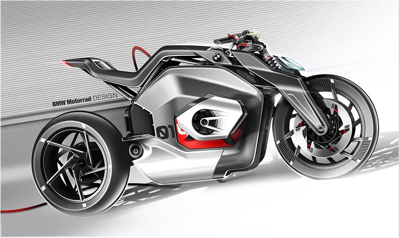 BMW Motorrad Vision DC Roadster. Skizze.