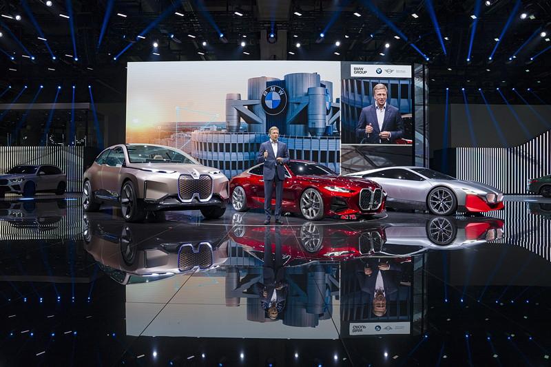 BMW Vorstandsvorsitzender Oliver Zipse bei der BMW Group Pressekonferenz, IAA 2019 in Frankfurt.