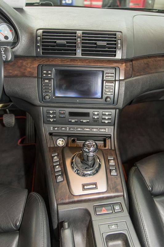BMW M3 Cabrio, Mittelkonsole