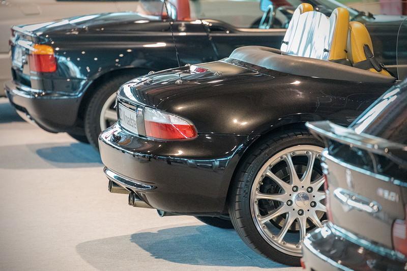 BMW Z3 M roadster in einer Reihe mit dem BMW Z3 Coupé 3.0i und dem BMW Z1