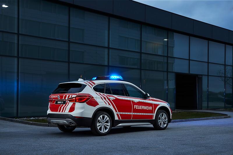 Der BMW X1 als Feuerwehrkommandowagen