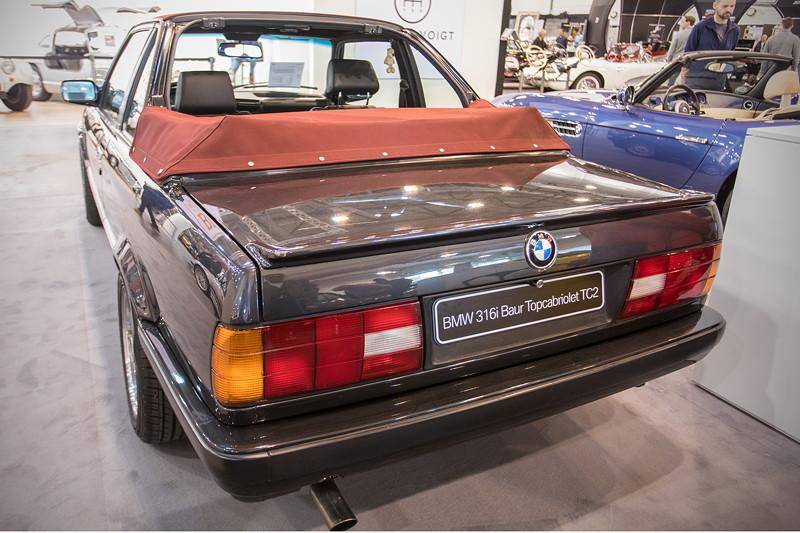 BMW 316i Baur Topcabriolet TC2, mit massivem Überrollbügel zur passiven Sicherheit