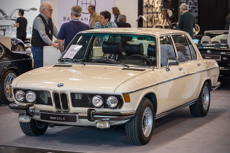 BMW 3.3 L A (Modell E3) von Andé Krämer, ausgestellt vom BMW E3 Limousinen Club e. V., Techno Classica 2019.