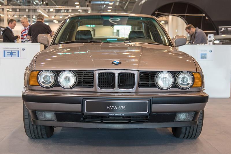BMW 535i (E34) von Jürgen Galter, ausgestellt von der BMW 5er E34 IG, Techno Classica 2019.