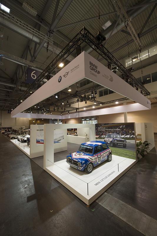 BMW Group Classic Messestand, Techno Classica 2019: MINI 1275 GT.