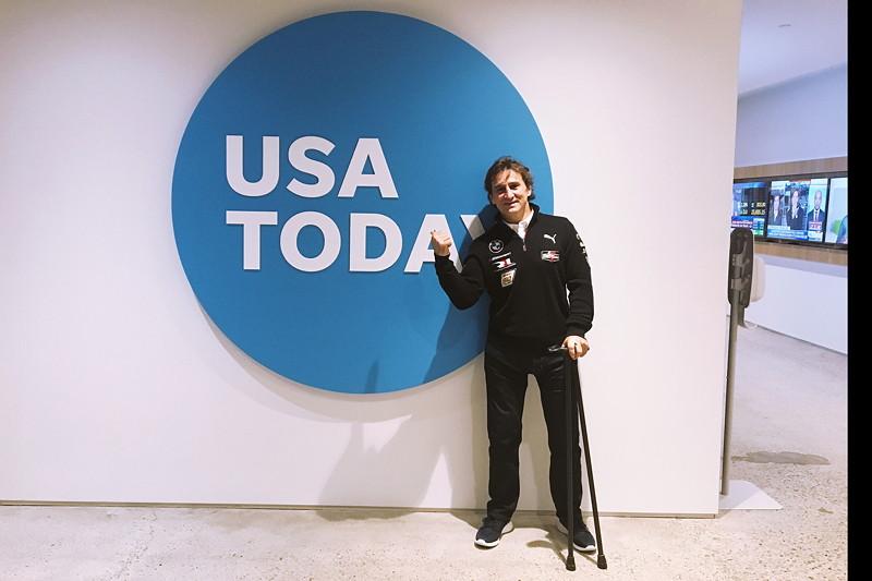 New York (USA), 8. Januar 2019. Alessandro Zanardi, Medien, Tour, USA Today.