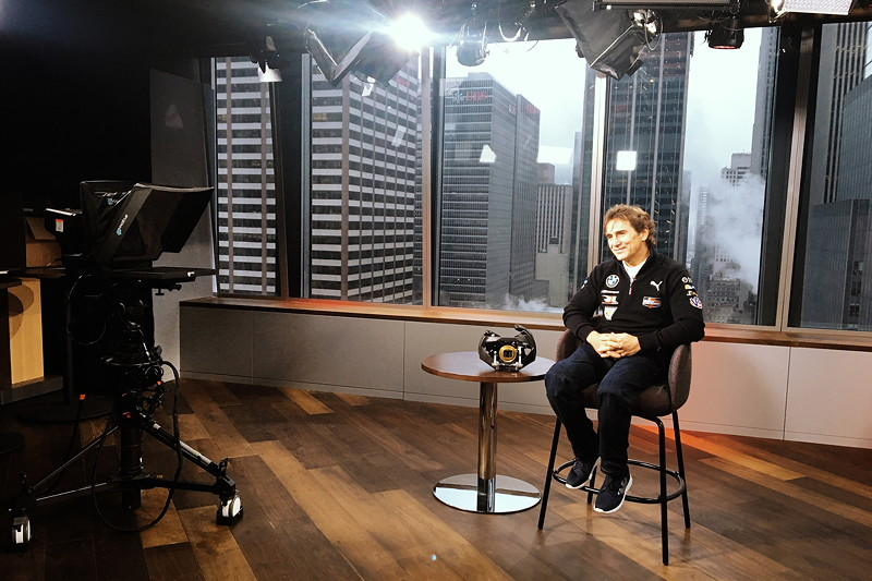 New York (USA), 8. Januar 2019. Alessandro Zanardi, Medien, Tour.