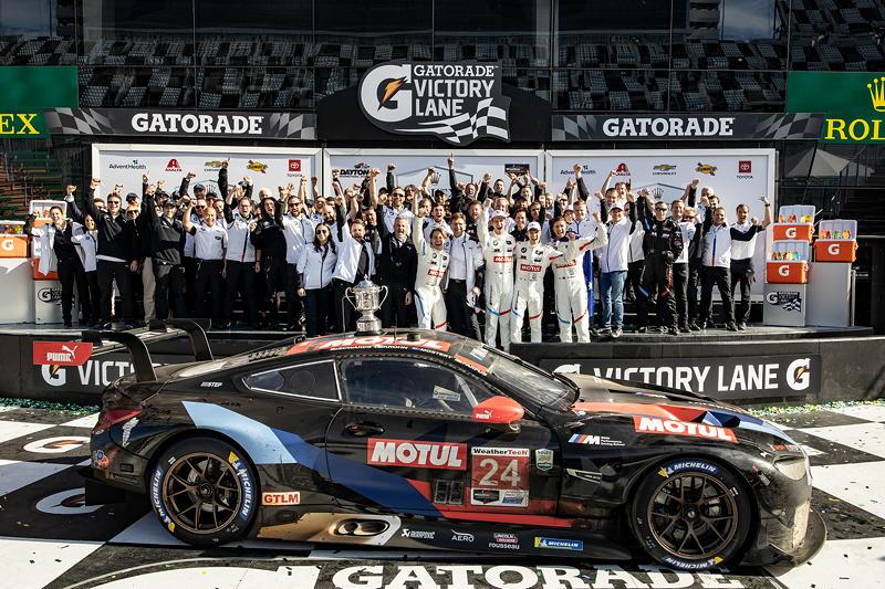 Daytona (USA), 22.-26.01.2020. 24 Stunden von Daytona, Daytona International Speedway. BMW Team RLL, #24 MOTUL BMW M8 GTE. Siegerfoto.
