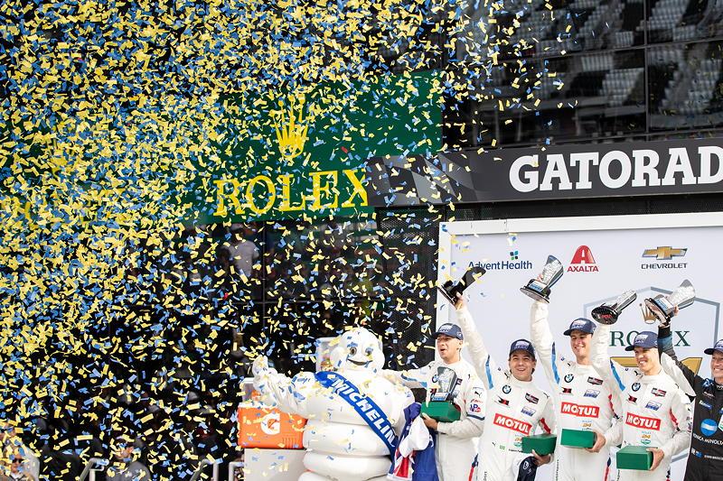 Daytona (USA), 22.-26.01.2020. 24 Stunden von Daytona, Daytona International Speedway. BMW Team RLL, Chaz Mostert (AUS), Augusto Farfus (BRA), John Edwards (USA), Jesse Krohn (FIN).