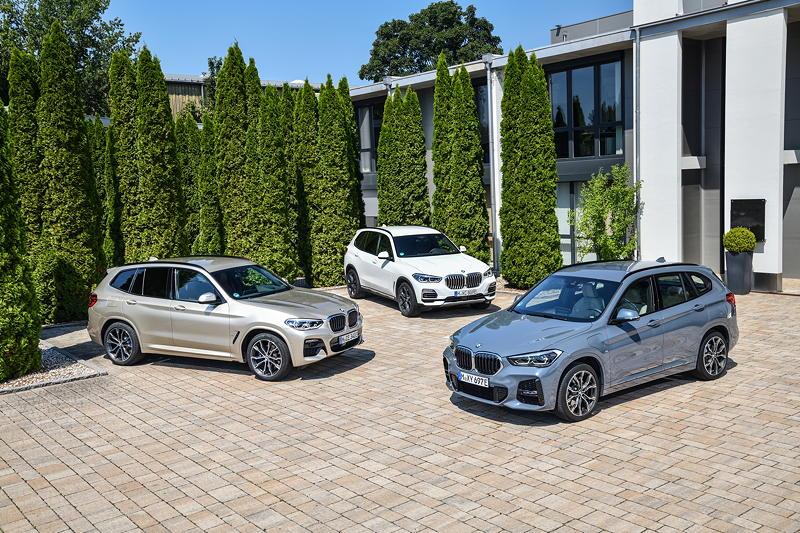 BMW X1 xDrive25e, BMW X3 xDrive30e und BMW X5 xDrive45e