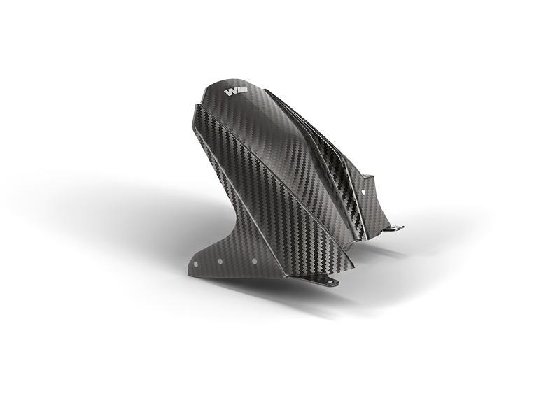 M Performance Parts fuer die BMW S 1000 RR. M Carbon Radabdeckung hinten.
