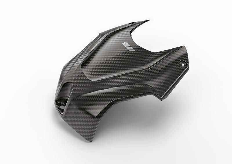M Performance Parts fuer die BMW S 1000 RR. M Carbon Airbox-Abdeckung.