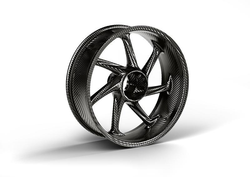 M Performance Parts fuer die BMW S 1000 RR. M Carbon Hinterrad.