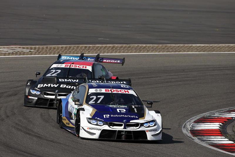 Nürburgring, 20.09.2020. DTM Rennen 12, Jonathan Aberdein (RSA), BMW Team RMR, #27 CATL BMW M4 DTM und Lucas Auer (AUT), BMW Team RMR, #22 BMW Bank M4 DTM.