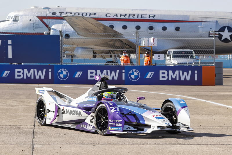 Berlin, 12.08.2020. ABB FIA Formula E Championship, Saisonfinale, Tempelhof, BMW i Andretti Motorsport, BMW iFE.20, Alexander Sims.
