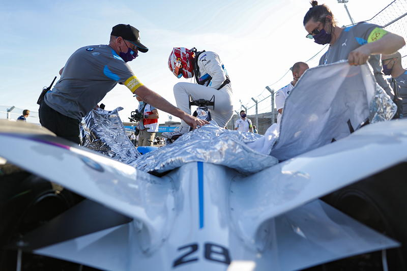 Berlin, 12.08.2020. ABB FIA Formula E Championship, Saisonfinale, Tempelhof, BMW i Andretti Motorsport, BMW iFE.20, Maximilian Günther.