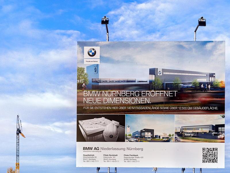Richtfest Neubau Niederlassung Nürnberg, 25.9.2020, Bauschild