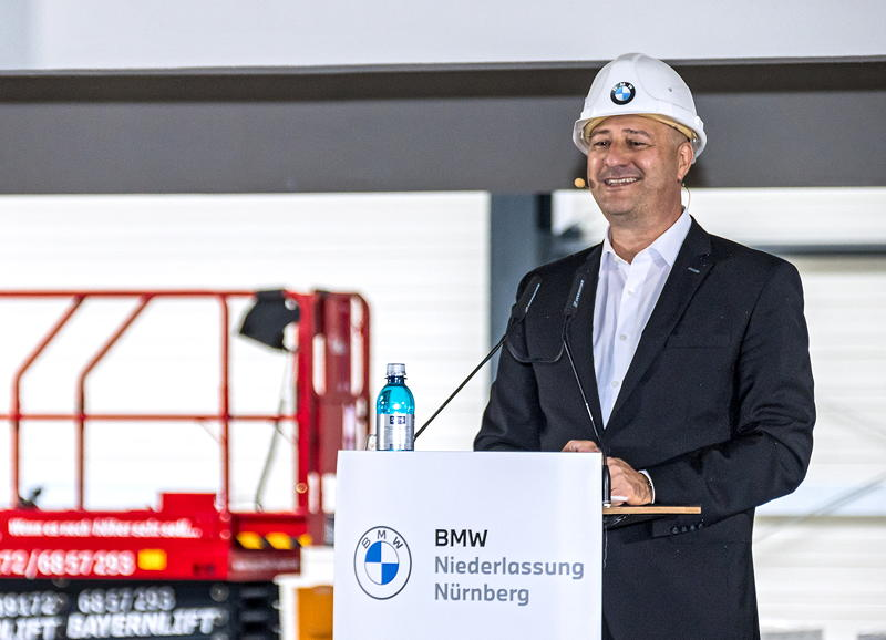 Richtfest der BMW Niederlassung Nürnberg am 25.09.2020. Thomas Fischer, Leiter der BMW Niederlassung Nürnberg