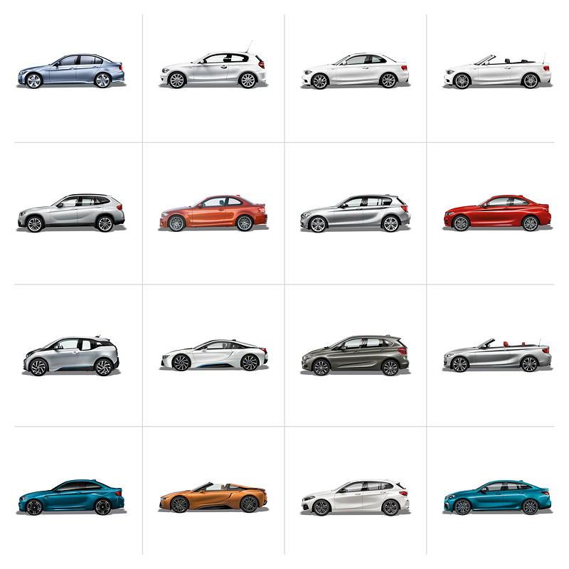 Alle BMW Modelle auf einen Blick, die von 2005 bis heute im BMW Group Werk Leipzig gebaut wurden.