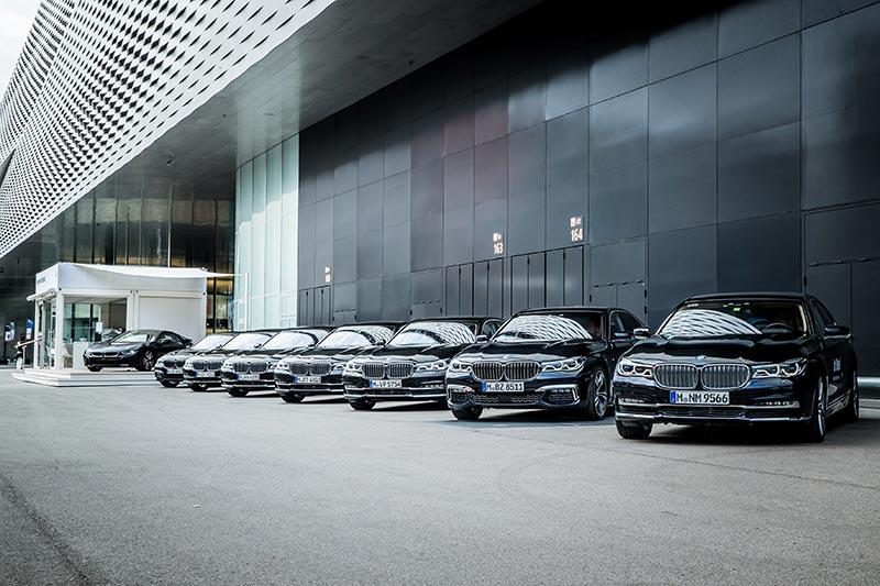 BMW Shuttle während der Art Basel in Basel (Schweiz), 2018.
