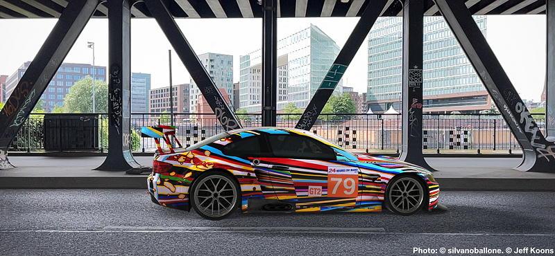 BMW Art Car von Jeff Koons, BMW M3 GT2, 2010, Augmented Reality. Bildrechte mit freundlicher Genehmigung des Kuenstlers und Acute Art in Zusammenarbeit mit BMW Group Culture.