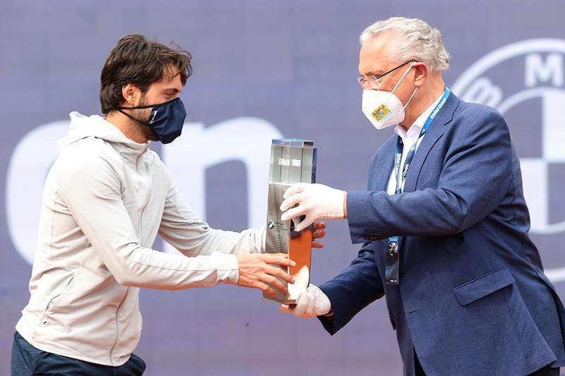 BMW Open 2021: Nikoloz Basilashvili, Joachim Herrmann (Bayerischer Staatsminister des Innern, für Sport und Integration)
