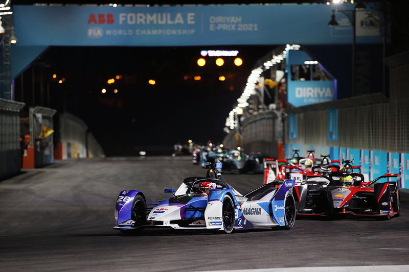 ABB FIA Formula E World Championship 2021, Diriyah E-Prix. Maximilian Günther #28 im BMW iFE.21.