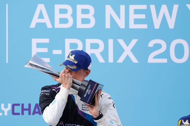 New York (USA), 08.-11.07.2021. ABB FIA Formula E World Championship, New York E-Prix, Gewinner Maximilian Günther (GER) #28 BMW iFE.21