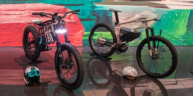 BMW Motorrad Vision AMBY und BMW i Vision AMBY, BMW Messestad, IAA Mobility 2021