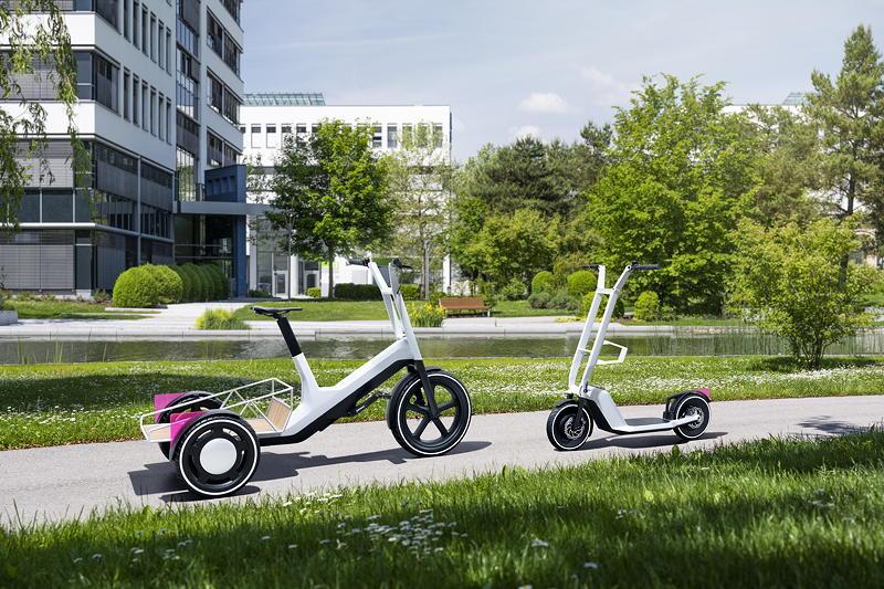 Impulse für urbane Mobilität: Concept Dynamic Cargo (li.); Concept Clever Commute (re.)