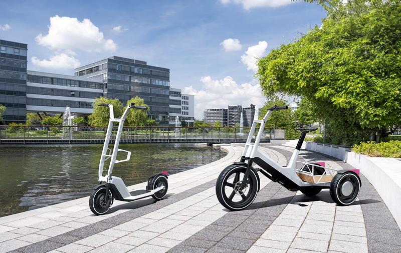 Impulse für urbane Mobilität: Concept Clever Commute (li.), Concept Dynamic Cargo (re.)