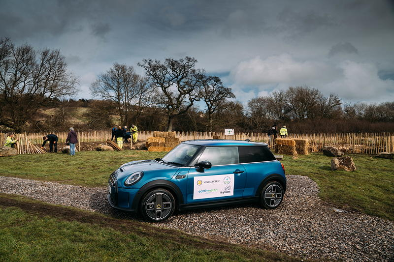 MINI boost for Tiny Forest Initiative. Die neue MINI Electric Collection steht am Pflanztag im Mittelpunkt.