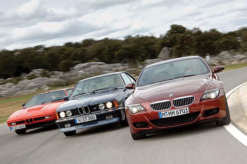 (v.l.) BMW M1, BMW M635 CSi und BMW M6