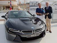 Rekord-Weltumsegler Lo�ck Peyron, Segel-Olympiasiegerin Xu Lijia und der BMW i8...