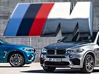 Starke Pr�senz: der neue BMW X5 M und der neue BMW X6 M.