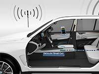 BMW pr�sentiert Vehicular Small Cell auf dem Mobile World Congress 2015 in Barcelona.