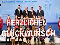 BMW feiert zehn Jahre Produktion im Werk Leipzig.