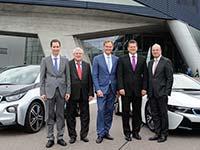 EU-Vize-Kommissionspr�sident Maros Sefcovic besichtigt BMW i Produktion in Leipzig.