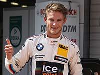 DTM-Champion Marco Wittmann startet von der Poleposition ins Samstagsrennen in Moskau.