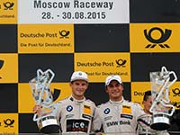 Wittmann und Spengler fahren im Samstagsrennen in Moskau f�r BMW auf das Podium