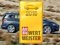 Wertmeister 2016: AutoBild zeichnet Wertstabilit�t von BMW X1, BMW 2er Gran Tourer und BMW i3 aus.