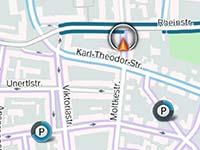 BMW ConnectedDrive. Premiere f�r den Dienst On-Street Parking Information.