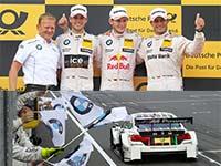 BMW feiert Vierfachsieg in Moskau: Marco Wittmann gewinnt und erobert die DTM-Gesamtf�hrung zur�ck.